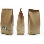 Popieriniai maišeliai su langeliu, rudi