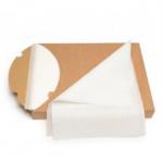 Silikonizuotas kepimo popierius lapais, baltas