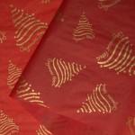 Raudonas premium šilkinis popierius (lapais)