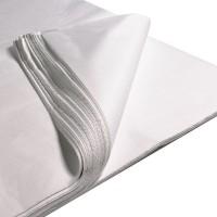 Baltas šilkinis popierius (lapais)