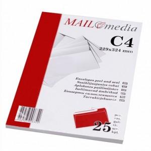 Popieriniai vokai C4 | Pakuotėmis  po 25 vnt.