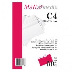 Popieriniai vokai C4 | Pakuotėmis po 50 vnt.