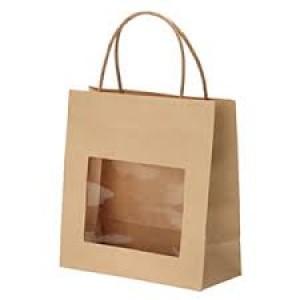 Popieriniai maišeliai dovanoms su langeliu